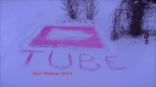 Red You Tube Play Button in the Snow