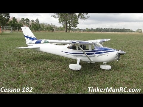 Top Flite Cessna 182 Skylane Flight