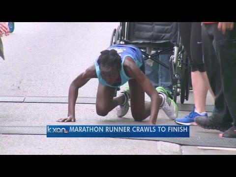 Runner crawls to finish of Austin Marathon