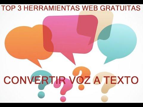Top 3 Herramientas web gratuitas para convertir voz a texto