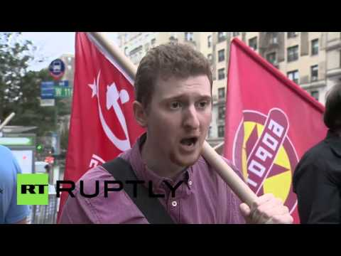 Nazi Poroshenko Protested at Columbia