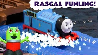 Funny Funlings Rascal Prank on Thomas the Tank Engine - A Fun toy story for kids