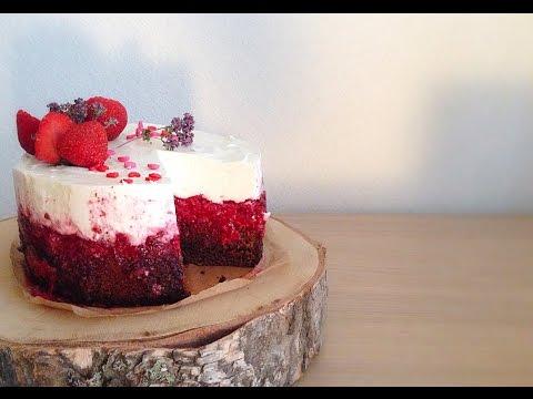 Торт суфле с малиной