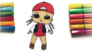 Draw LOL BABY Scater | How to draw L.O.L DIY | Рисуем Малышку ЛОЛ поэтапно