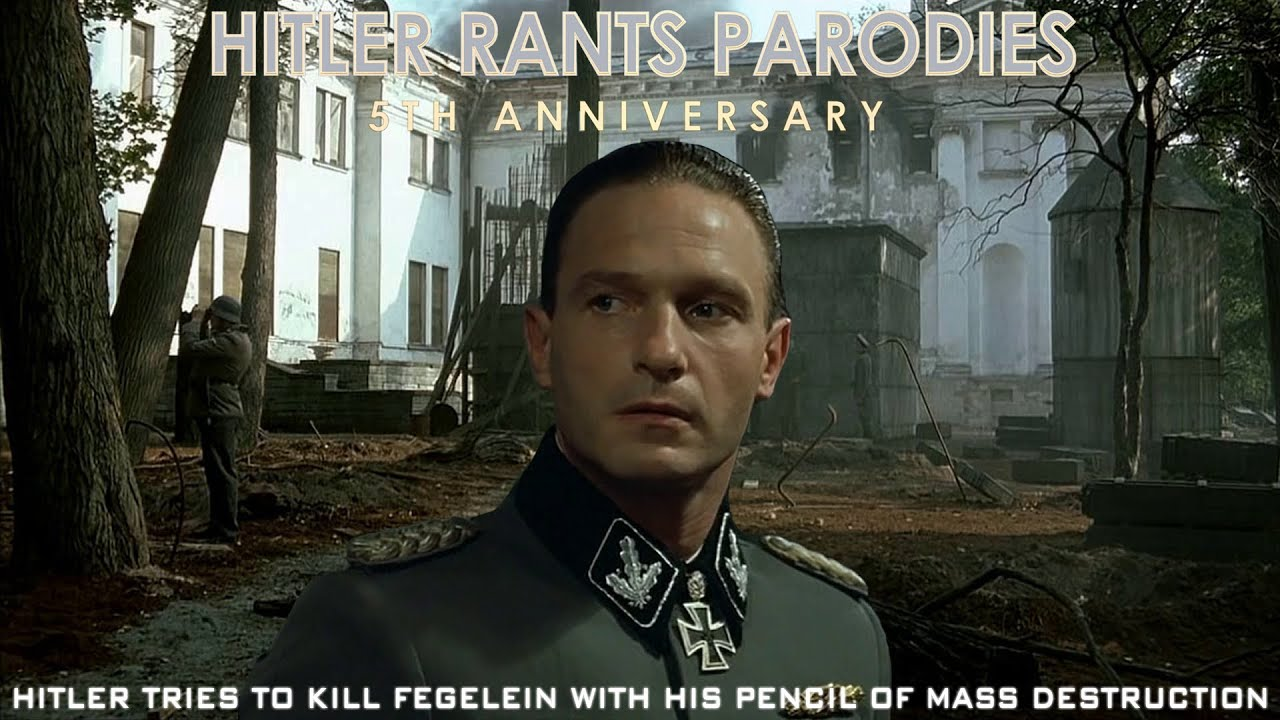 Hitler tries to kill Fegelein with his pencil of mass destruction