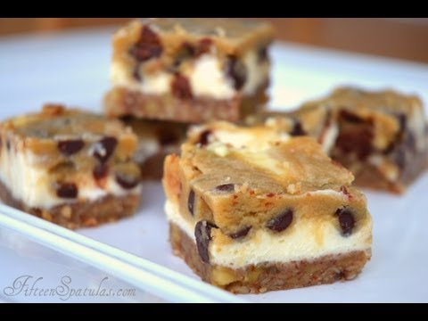 Cookie Dough Cheesecake Bars with Pecan Crust Recipe