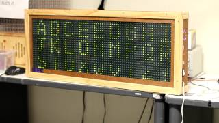 72x24 LED matrix - IEEE Summer Project 2011.MOV