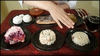 ASMR Eating sounds!!! Russian Traditional Foods Tasting ♥ (see description :)