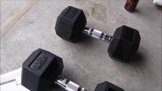 Cleaning foul smelling rubber coated dumbells