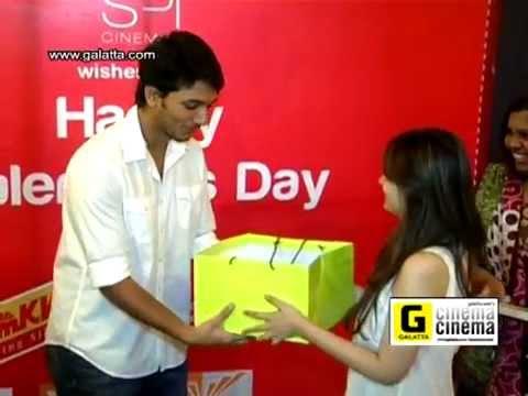 Gautham Karthik at Sathyam Cinemas for Valentine's Day Celebration