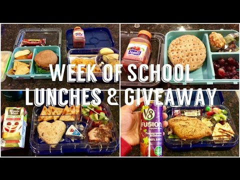 Week of School Lunches & Giveaway - May 2017 Ep. 1 - School Lunch Ideas