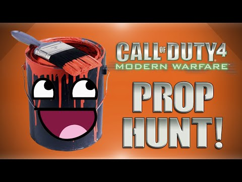 COD4 Prop Hunt! - Eavesdrop Fun, Lucky Vanoss, TreeForce & More! (Funny Moments)