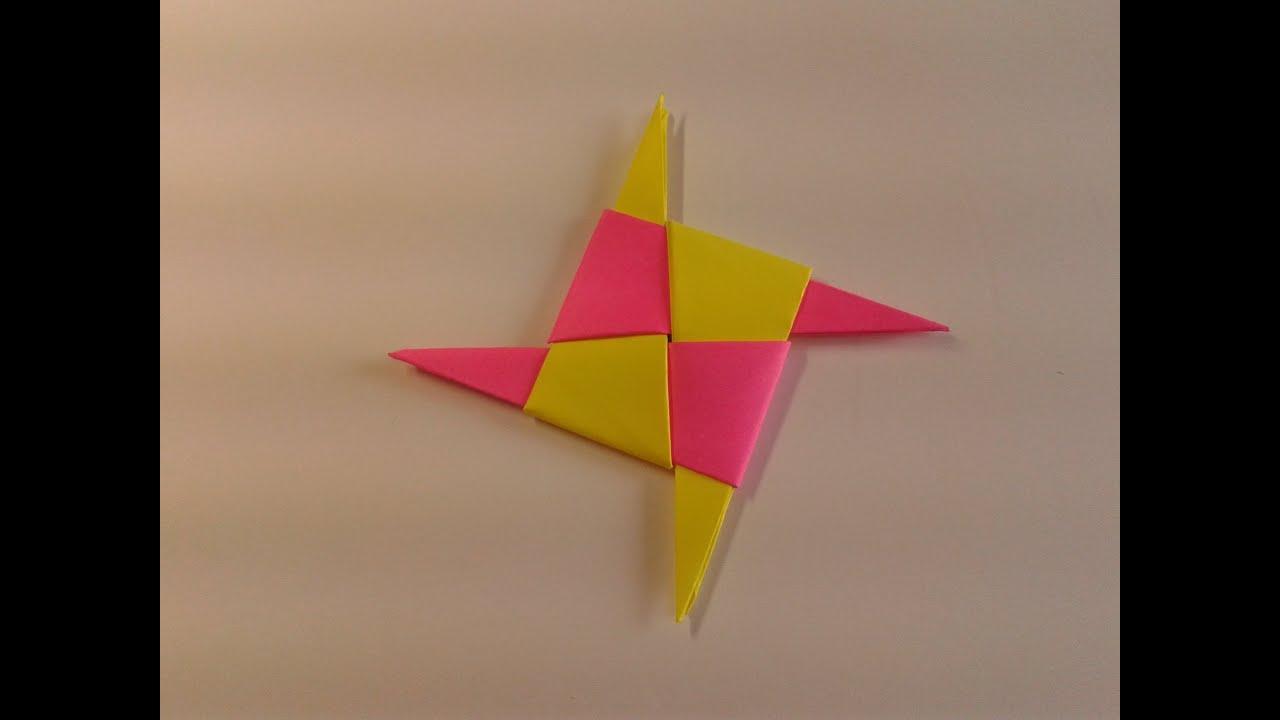 ninja star origami instructions printable