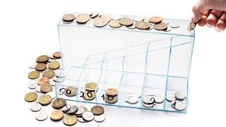 DIY Transparent coin sorter from plexiglas