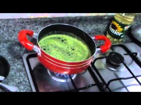 Arroz verde de espinaca