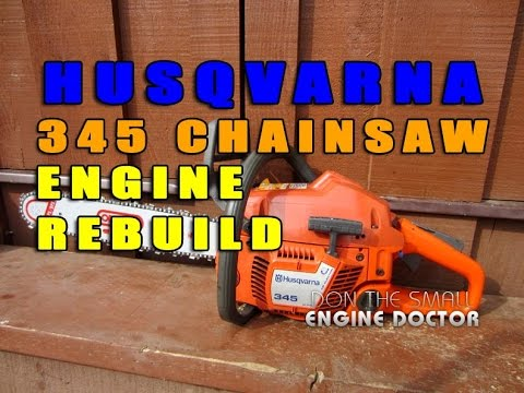 Husqvarna 345 Engine Rebuild - Cylinder. Piston & Ring Replacement