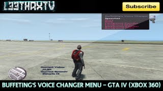 Buffeting's Voice Changer Menu - GTA IV (Xbox 360)