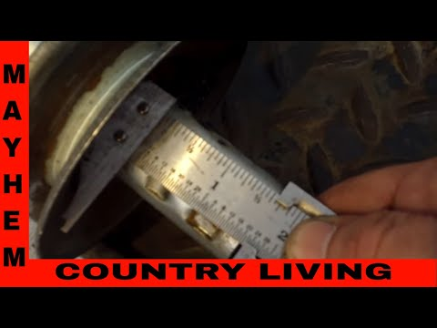 How I make a front pulley for a mud mower.