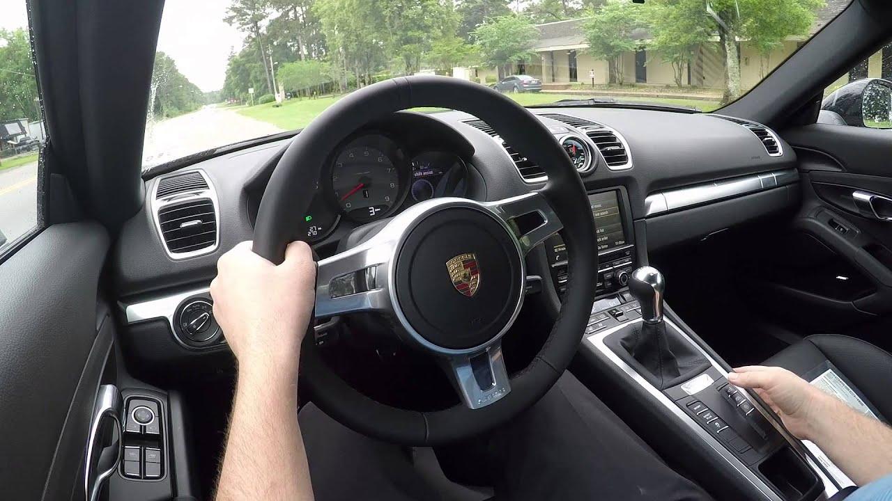 Demo of 2015 Porsche Cayman S manual with Sport Chrono ...