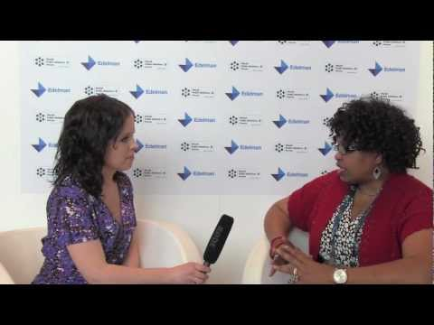 Edelman interviews Amiso George at the World PR Forum