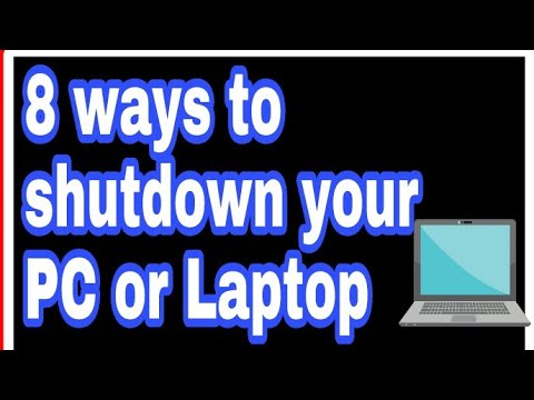 8 Ways to (Turn Off PC) Shut Down Your Windows Computer or laptop || how to shutdown your computer