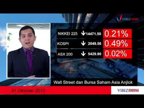 Wall Street dan Bursa Saham Asia Anjlok , Vibiznews 31 Oktober 2013