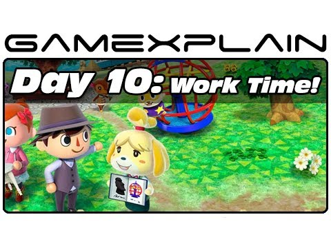 Animal Crossing: New Leaf - Day 10: Work Time! (3DS Video Preview)