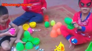 Peel eggs for baby dinosaur eggs kinder surprise - Bumba Kids Nursery Rhymes
