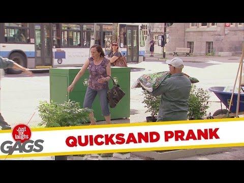 Versteckte Kamera - Quicksand Gardner Prank