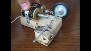 Double solenoid Electric Engine. Homemade motor