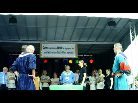 19. Gautschfest am Samstag, 20.08.2011 auf dem Markt in Haltern am See, Kornutin  Sonja
