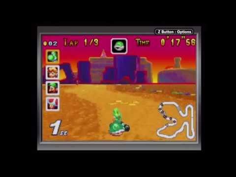 Mario Kart Super Circuit - 150cc Lightning Cup (Game Boy Player Capture)