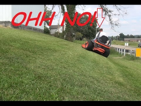 OMG DOES HE ROLL??? - lawn care - lawn service - mowing vlog