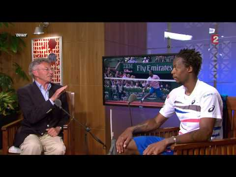 Interview Gael Monfils Roland Garros 2014 sur France 2 HD