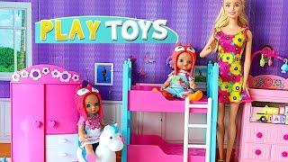 Barbie Baby Doll bath play baby sitter & baby doll mini mart cash register shop toys