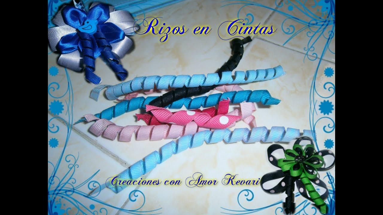 Como rizar cintas para lazos how to make korker ribbon - Manualidades con lazos ...