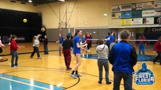 UWF Volleyball Team Helps Pace High School Special Needs Students