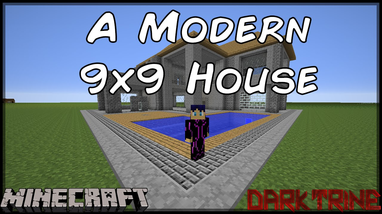 minecraft a modern 9x9 house for direwolf20 youtube