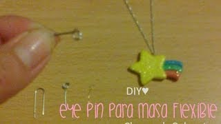 DIY♥ Eye Pin para accesorios de pasta de sal o masa flexible | Charms