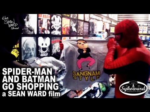 Spider-Man & Batman Go Shopping