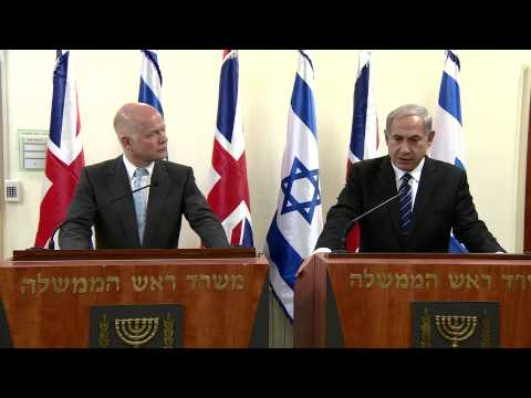 PM Netanyahu Meets with British Foreign Secretary Wiliam Hague