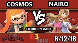 E3 2018 - SSBU Demo - Nairo (Zelda) Vs. Cosmos (Inkling) Smash Bros. Ultimate - Exhibition