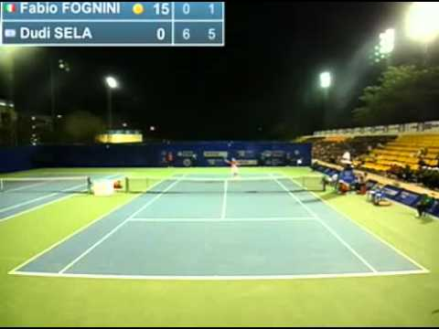 Fognini vs Sela - ATP Chennai 2012 - 1T - Livetennis.it