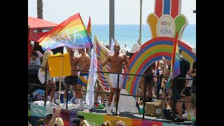 """Парад гордости"" в Тель-Авиве/Tel Aviv Pride 2019. Neil Patrick Harris on the truck"