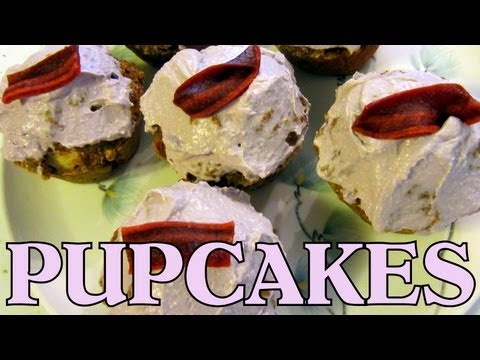 Homemade Dog Treats - Pumpkin Apple Pup Cakes Recipe - How To - Siberian Husky