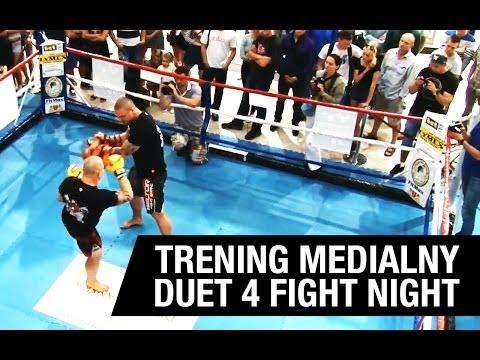 Trening medialny: Gala BAT & BOWKE DUET 4 FIGHT NIGHT Bartosz Chyrek, Michał Wlazło, Maciej Brzostek