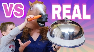 REAL food vs GUMMY  food and HORSE pets surprise