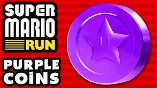 Super Mario Run - ALL PURPLE COINS! 100% of the Purple Coins!