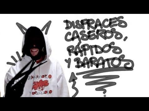 Disfraces caseros, rápidos y baratos - YouTube