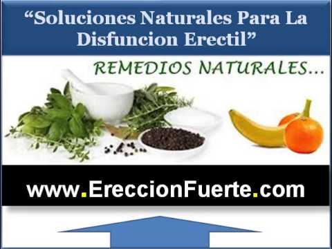 Medicamentos naturales para la disfuncion erectil